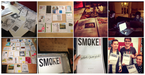 Smoke at various stages